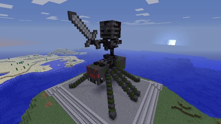Spider Statue Minecraft Mob Statue With...