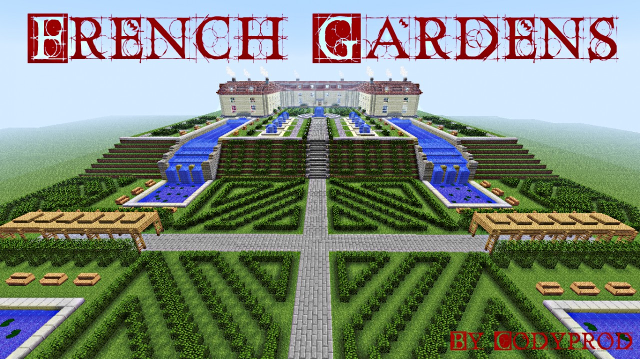 French gardens minecraft project - Minecraft garden designs ...