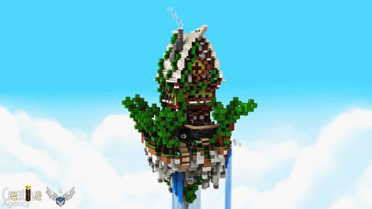 minecraft flying island map