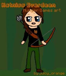 Katniss art Minecraft