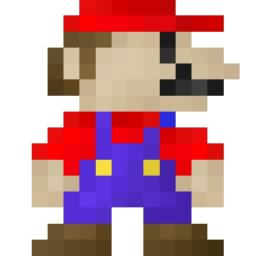 16x16 Pixel Art 19! Early Mario Revamped! Minecraft Blog Post