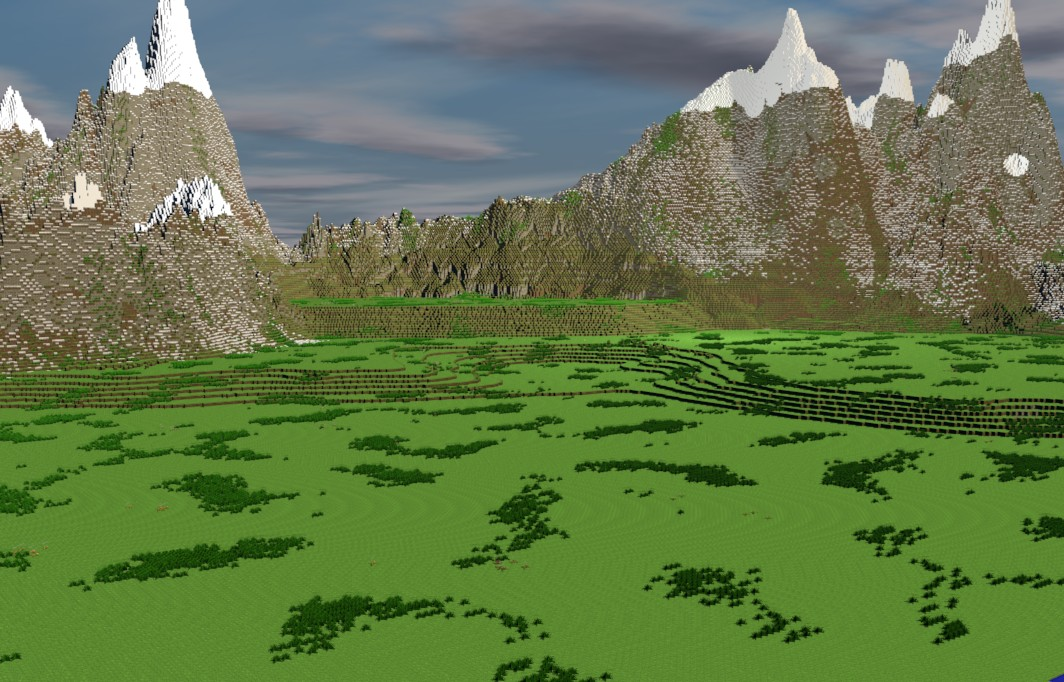Custom Terrain Nordic Landscape Render Minecraft Project