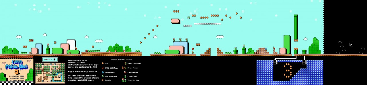 Super Mario Bros 3 World 1 1 Minecraft Map