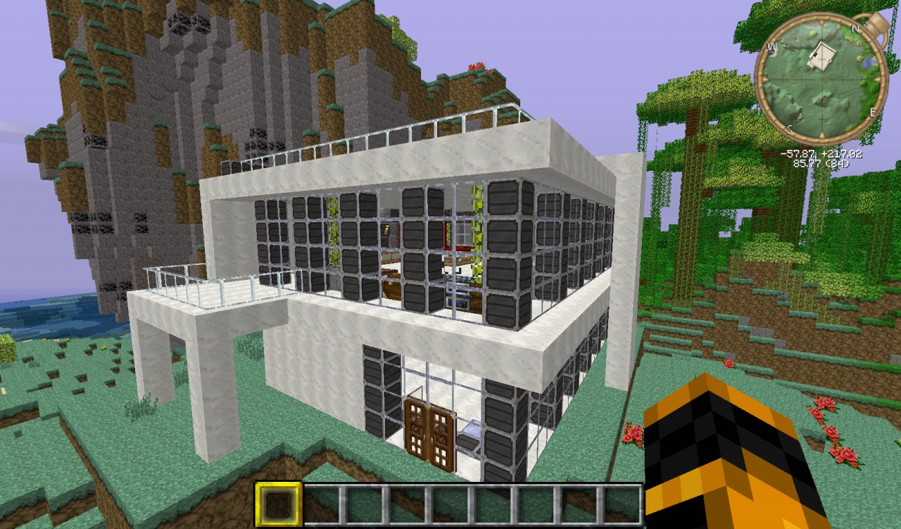 Simple modern house minecraft project for Simple mansion