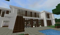 Luxury Modern House Minecraft Map & Project