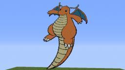 Pokemon Gen 1: 149# Dragonite Pixel art Minecraft