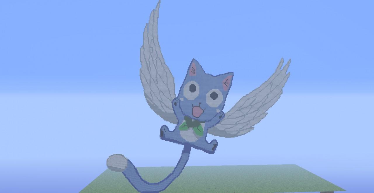 Fairy Tail Happy Pixel Art Minecraft Project