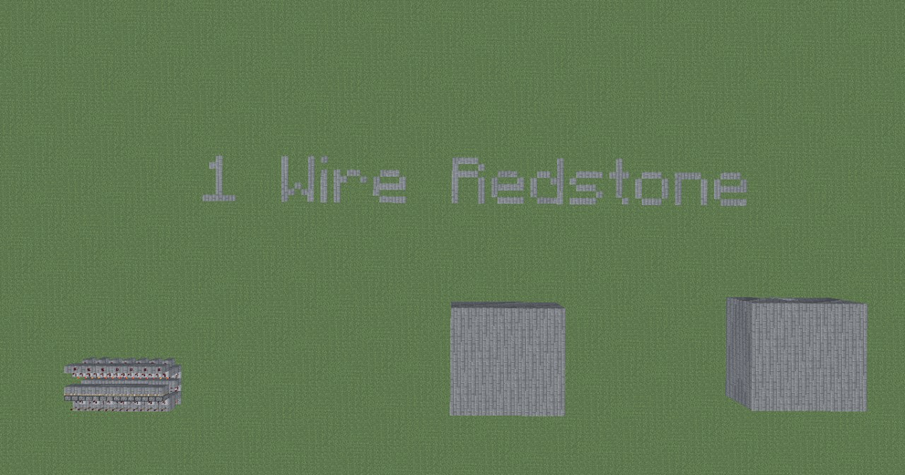 1 Wire Redstone And A Wide T Flip Flop Minecraft Project Wiring Mod The 2 Buildings Output That Are Connected By Only Wires