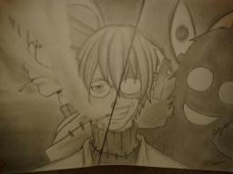 Soul Eater drawing (Stein) Madness and Sanity (WonderCat art contest) Minecraft Blog Post