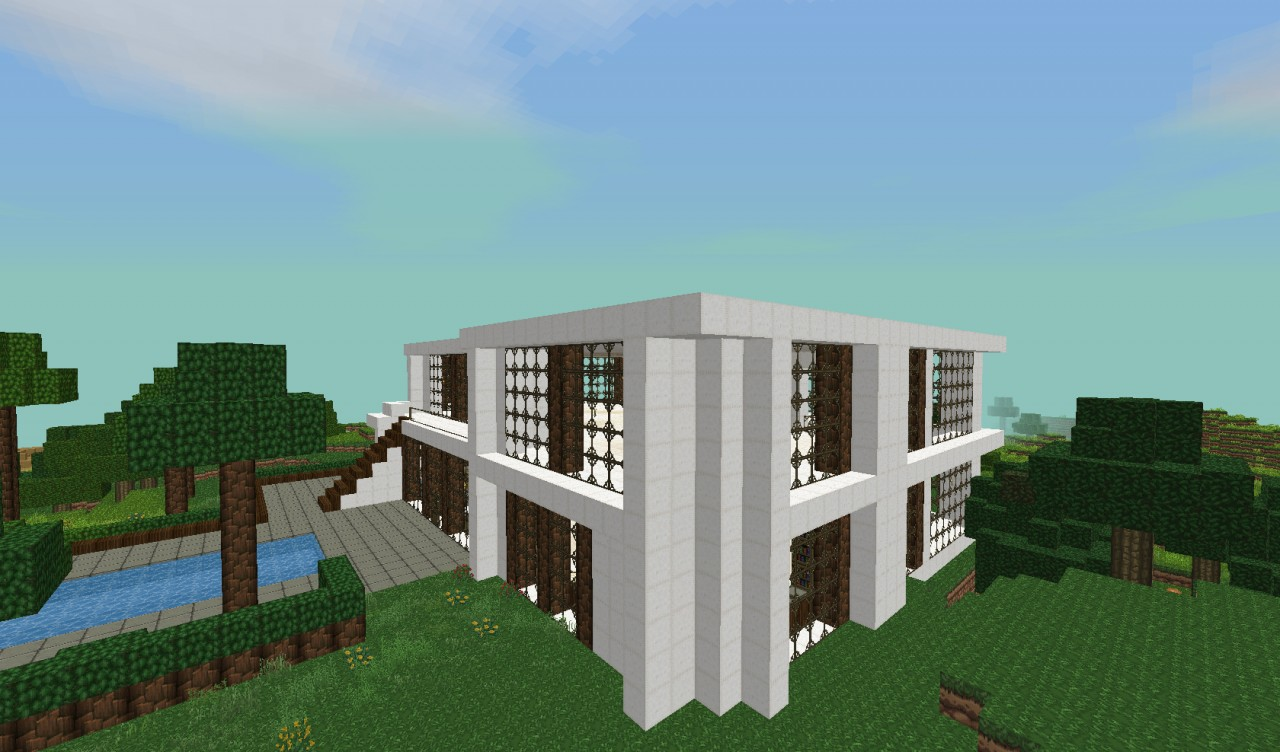 Luxury modern house minecraft project for Project modern house