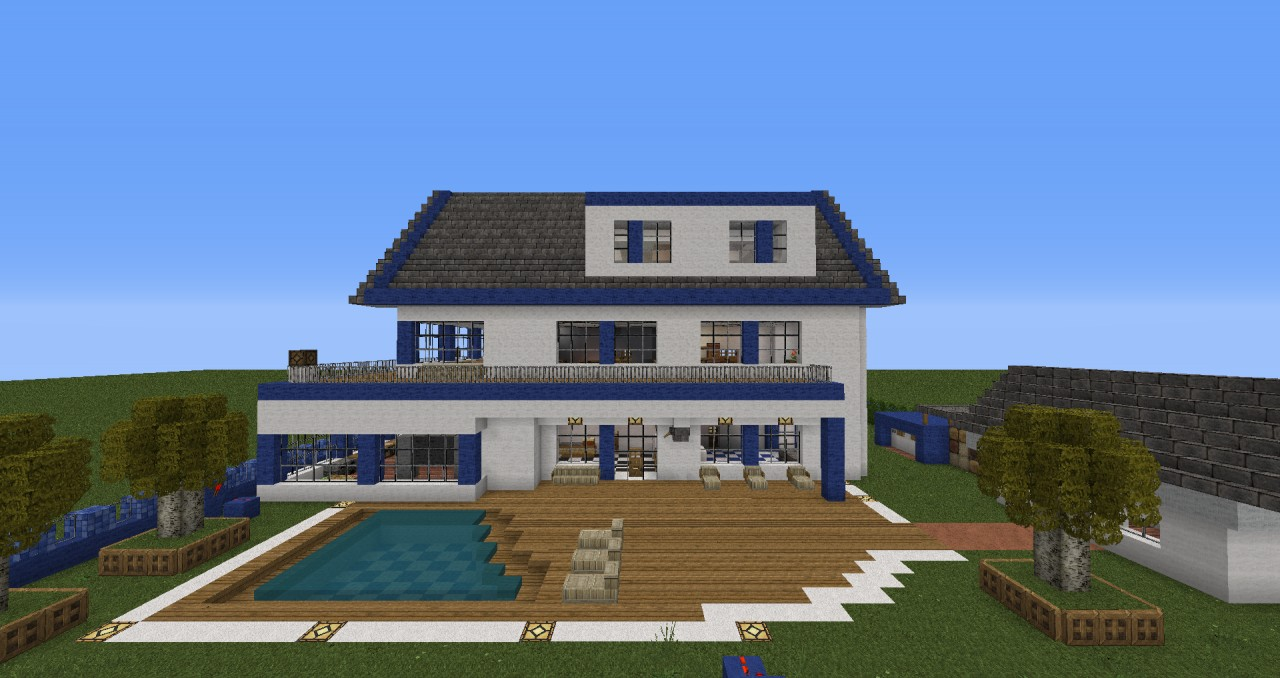 Moderne villa mit alarmanlage minecraft project