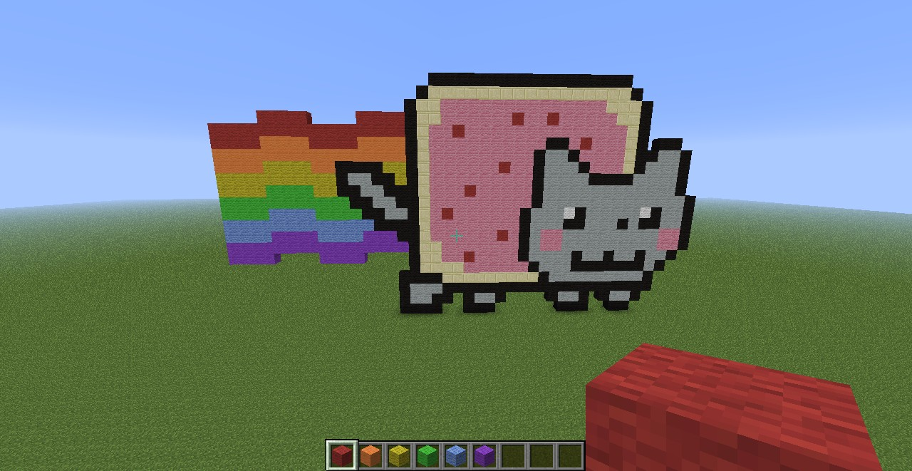 Awesome Pixel Art Minecraft Project