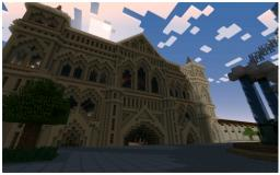 Full Size Cathedral (436x223m) Minecraft Map & Project