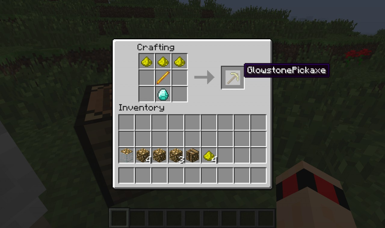 The overpowered glowstone pickaxe.