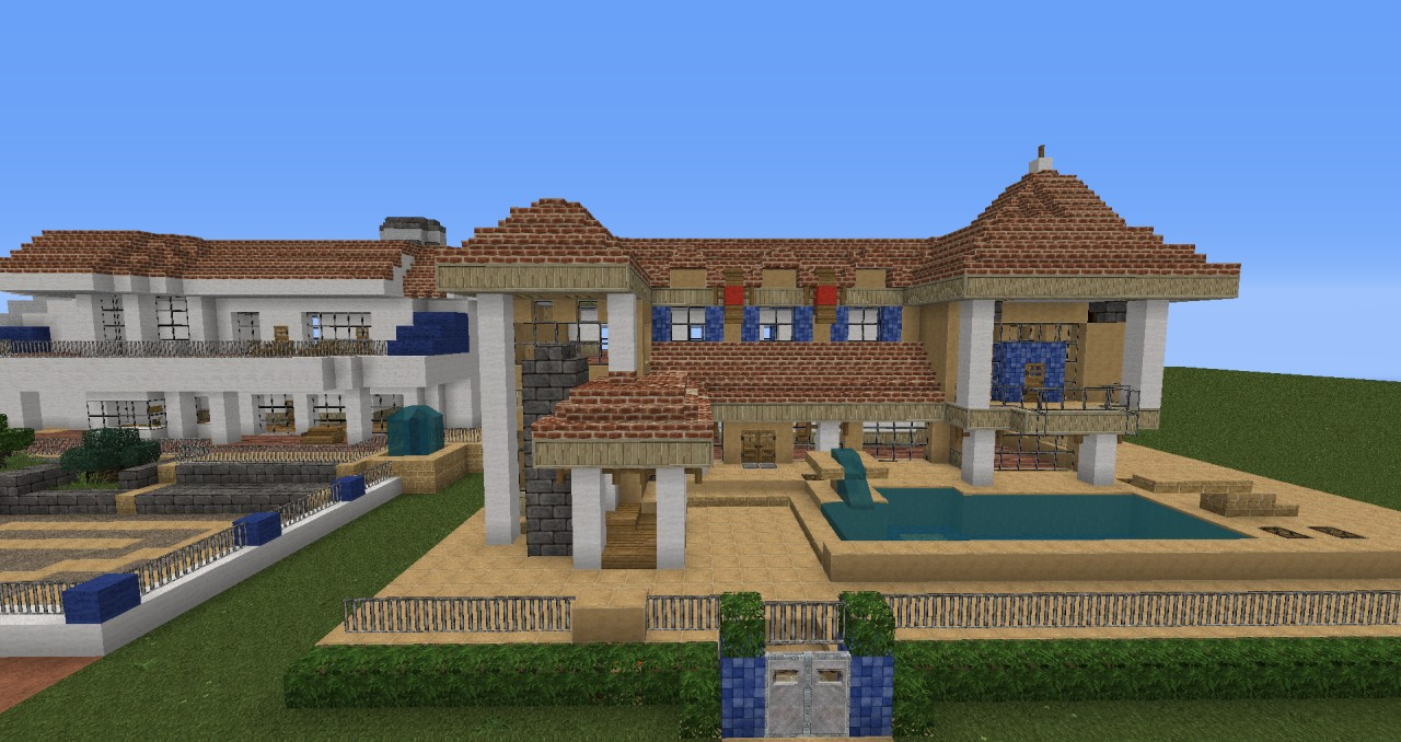 Moderne villa mit redstone technik minecraft project