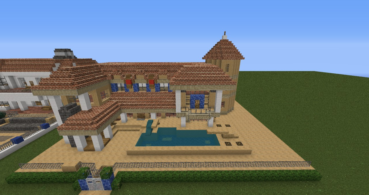 Moderne villa mit redstone technik minecraft project for Villa modern bauen