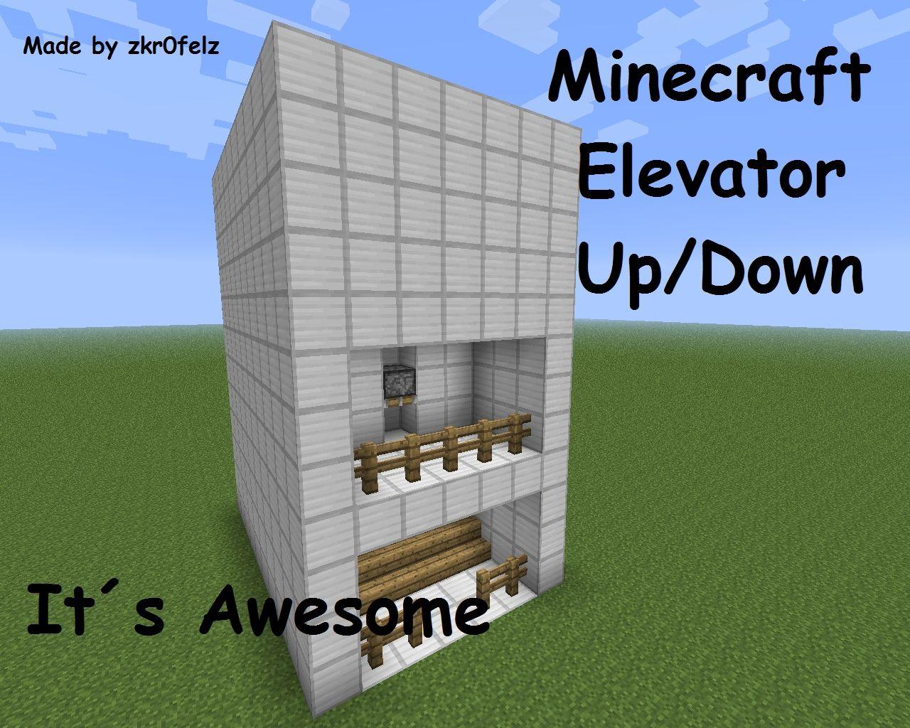 Minecraft Up Down Elevator Minecraft Map