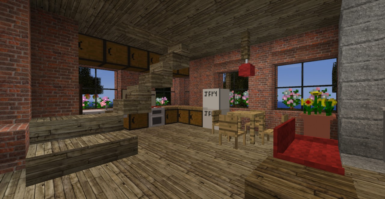 Brick house 1 3 2 world save download minecraft project - Brick houses three beautiful economical projects ...