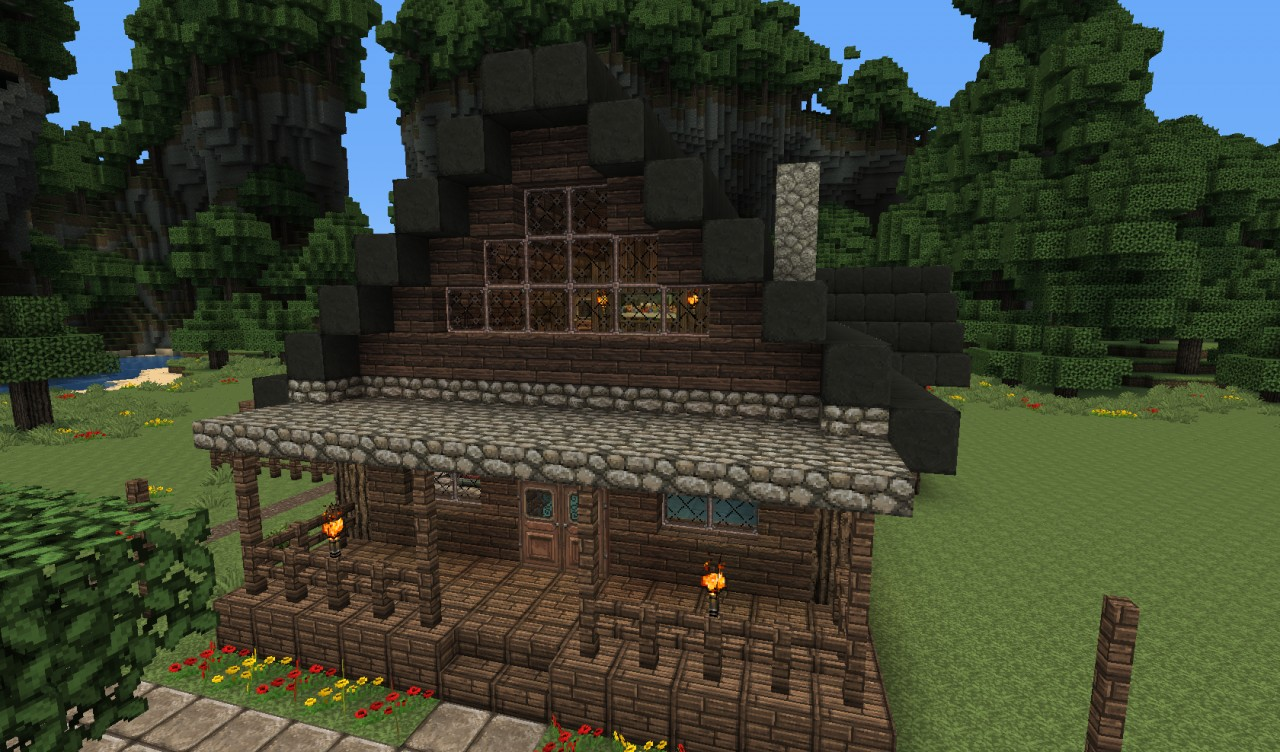 Large Farmhouse Architecturally Beautiful Minecraft Project