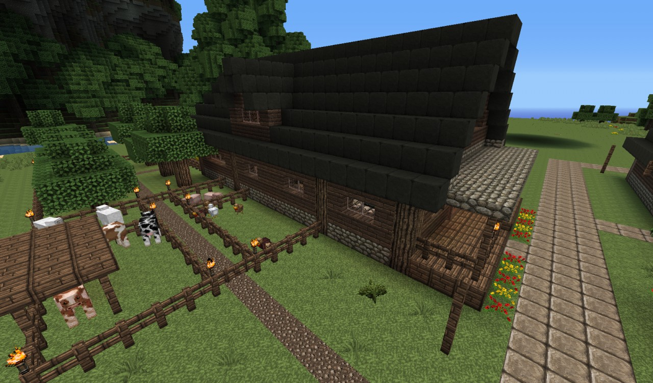 minecraft farm house viewing gallery