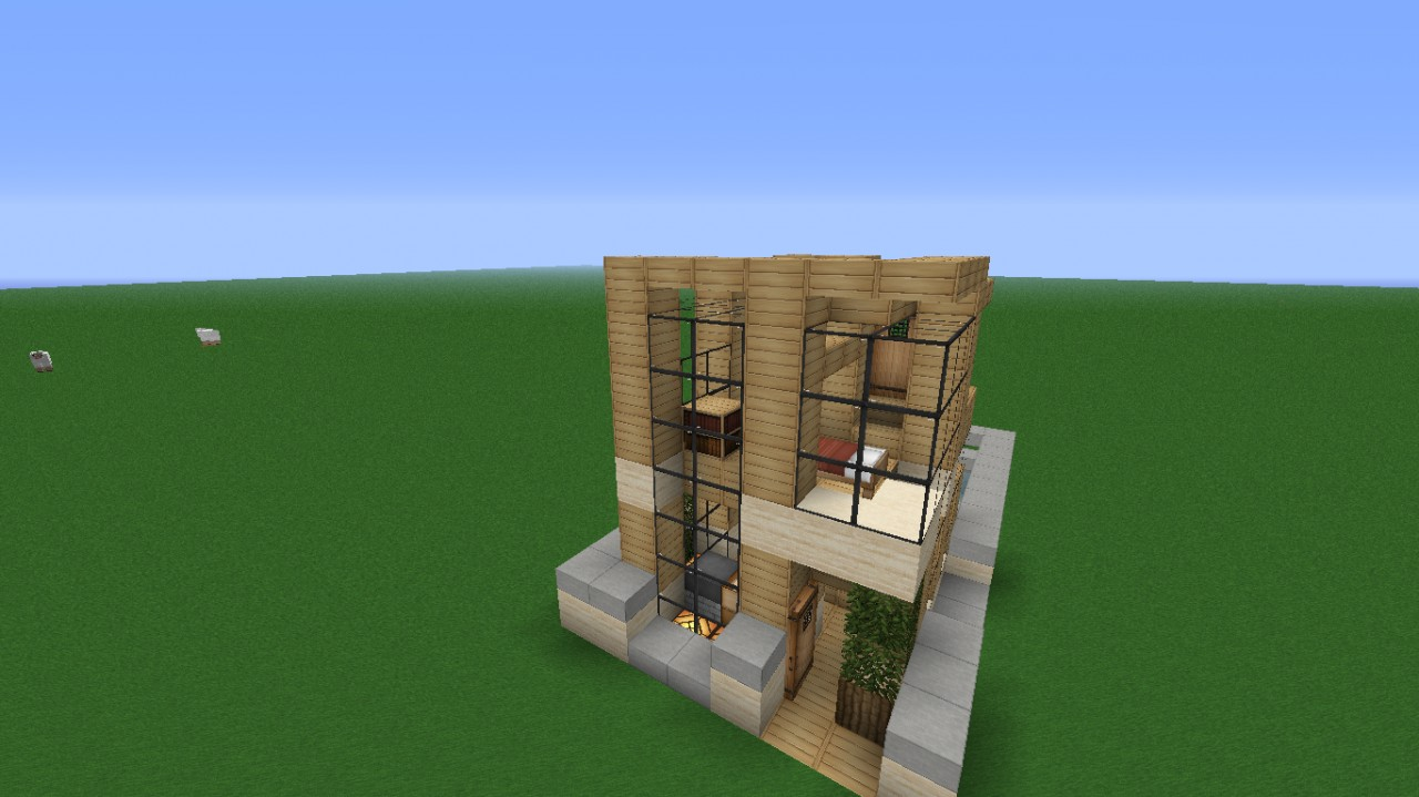 6x6 house download modern minecraft project for Minecraft modern
