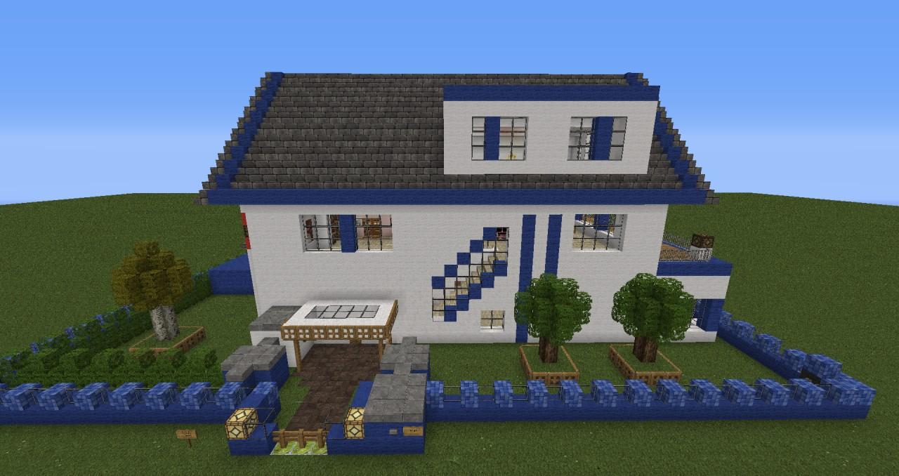 minecraft modernes haus zum nachbauen kreative ideen f r. Black Bedroom Furniture Sets. Home Design Ideas