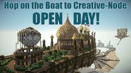 Hop onto the Boat to Creative-Node! NOW OPEN! Minecraft