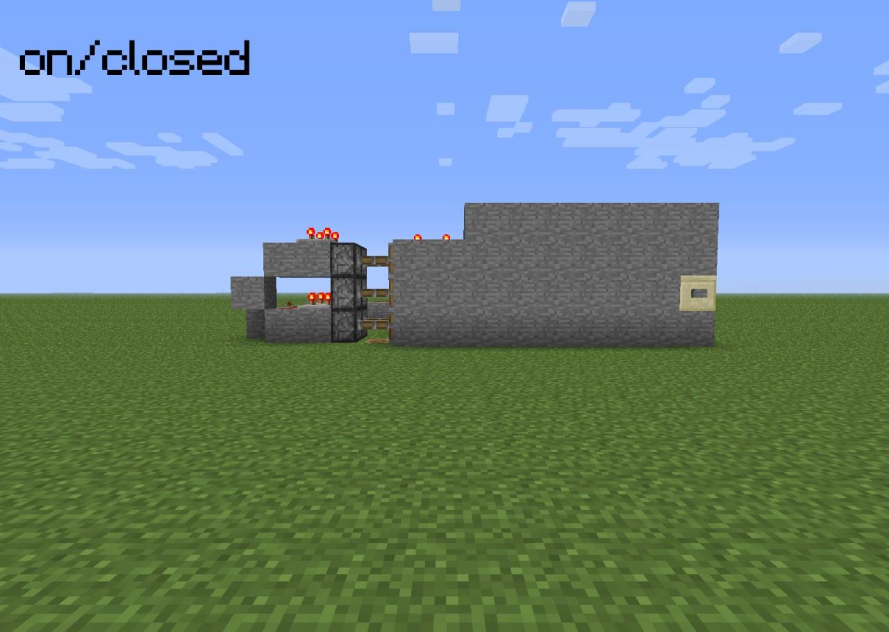 how to build secret door mine craft