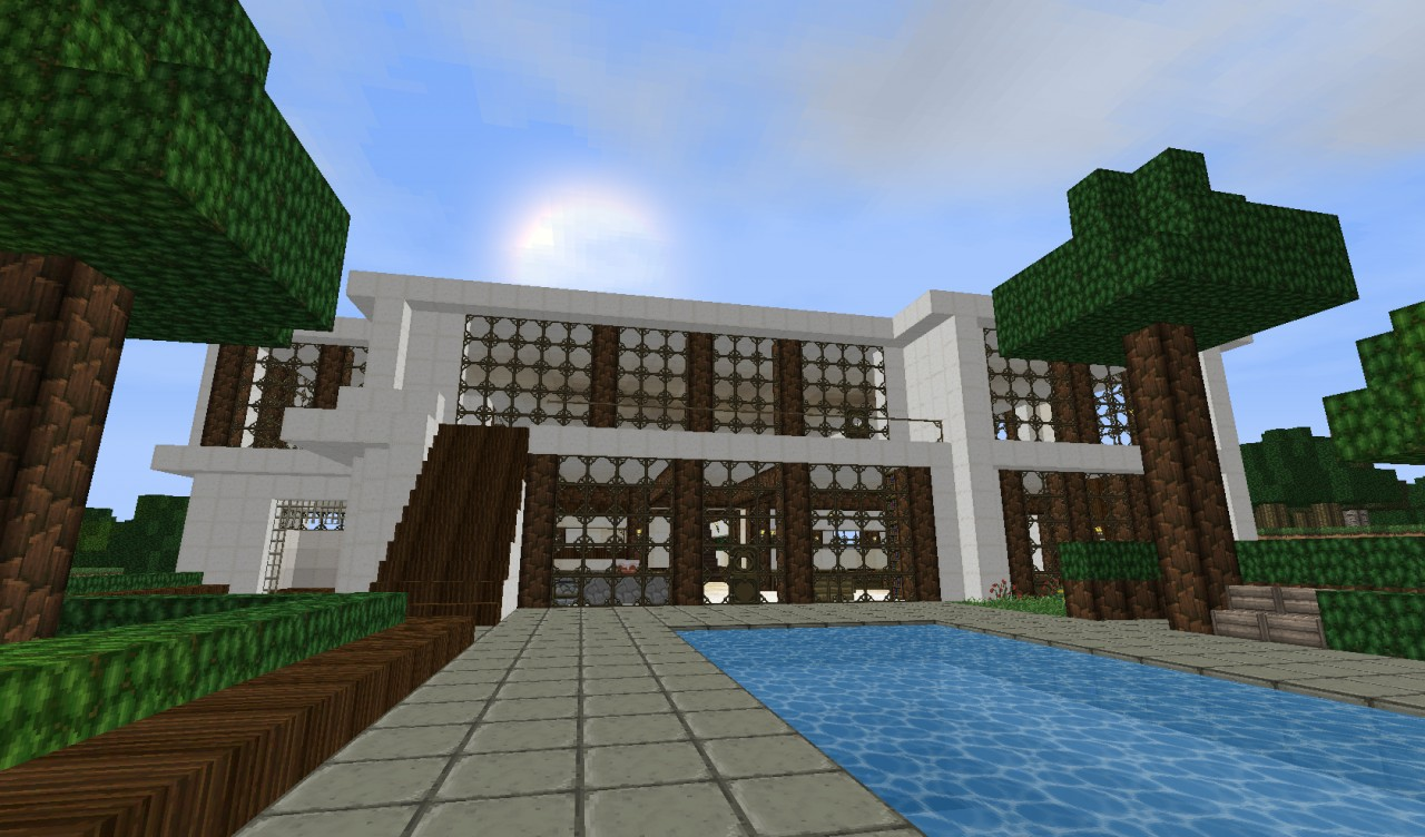 Luxury modern house minecraft project for Modern house projects