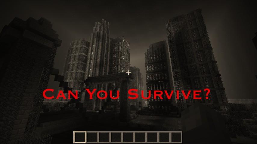 minecraft zombie city map