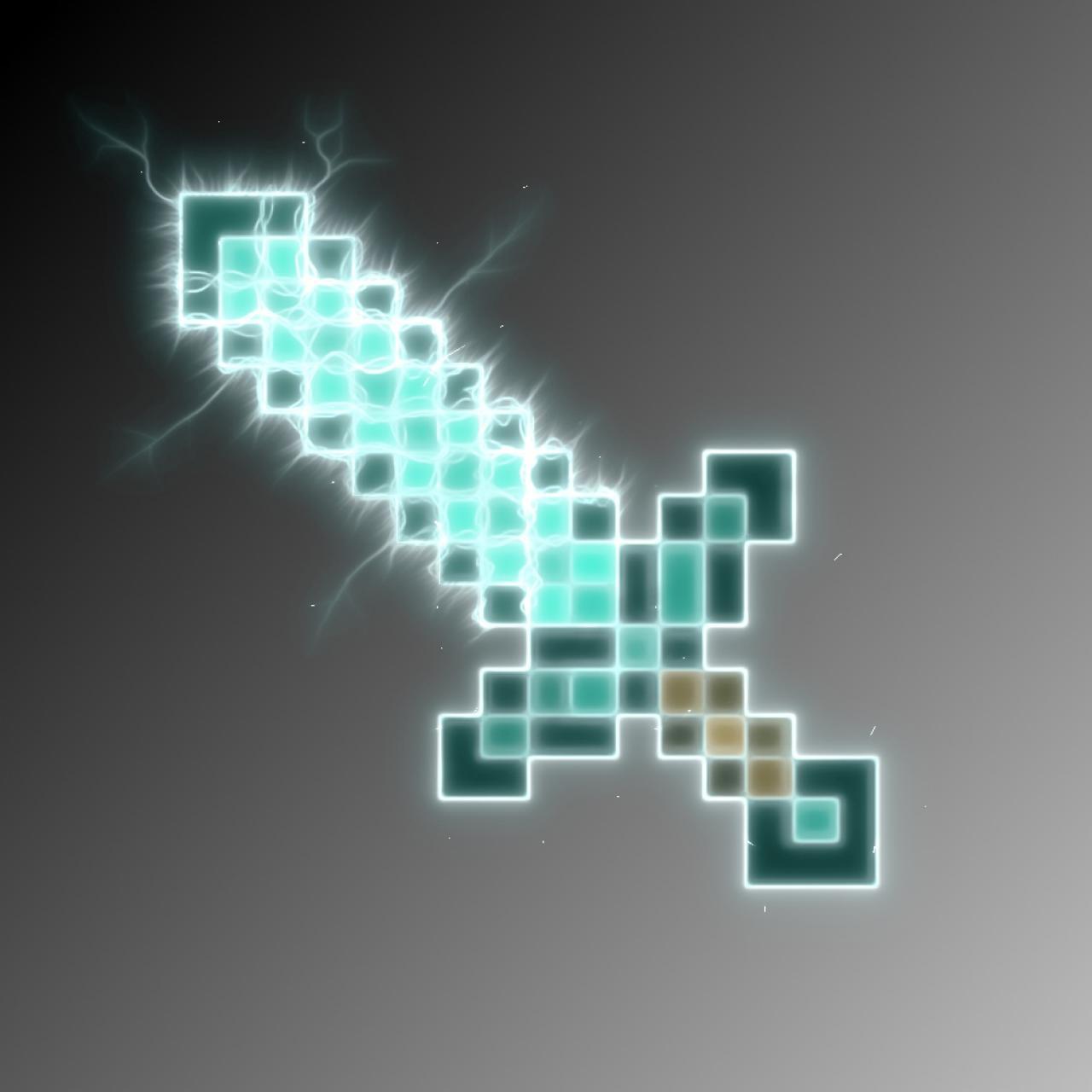 Minecraft Diamond Sword Wallpaper
