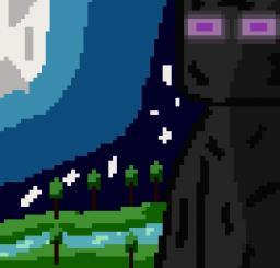 A Night at Minecraft.  (Dinowcookie's Pixel Art Contest) Minecraft Blog