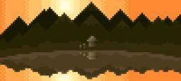 Pixel Art - Mountain Sunset Minecraft