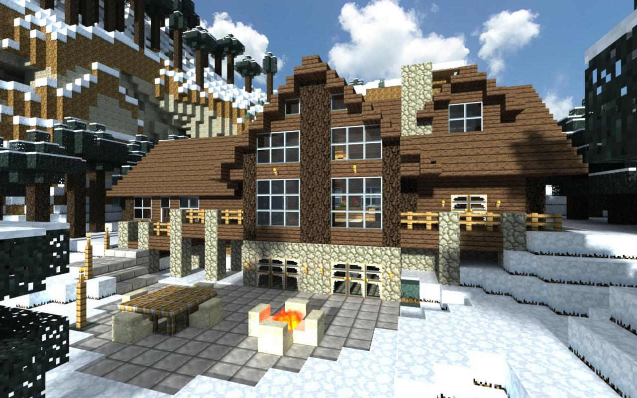 Cozy minecraft log cabin minecraft project for Amazing house pictures