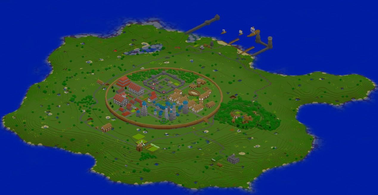 City of Palme Salus Minecraft Project