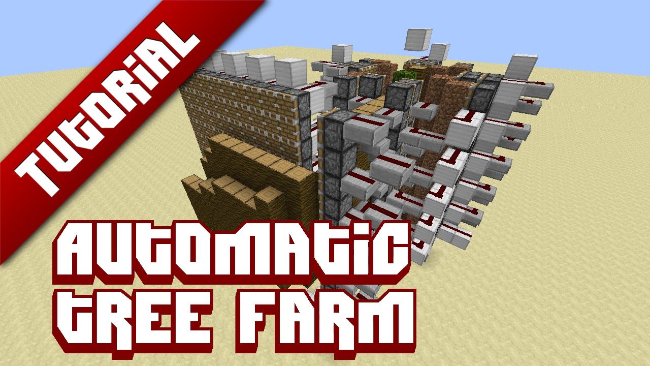 Fully automatic tree farm tutorial minecraft blog