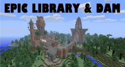 Minecraft Library and Piston Dam Minecraft Map & Project