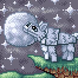 Wolf Pixel Art [Pixel Art Contest] Minecraft