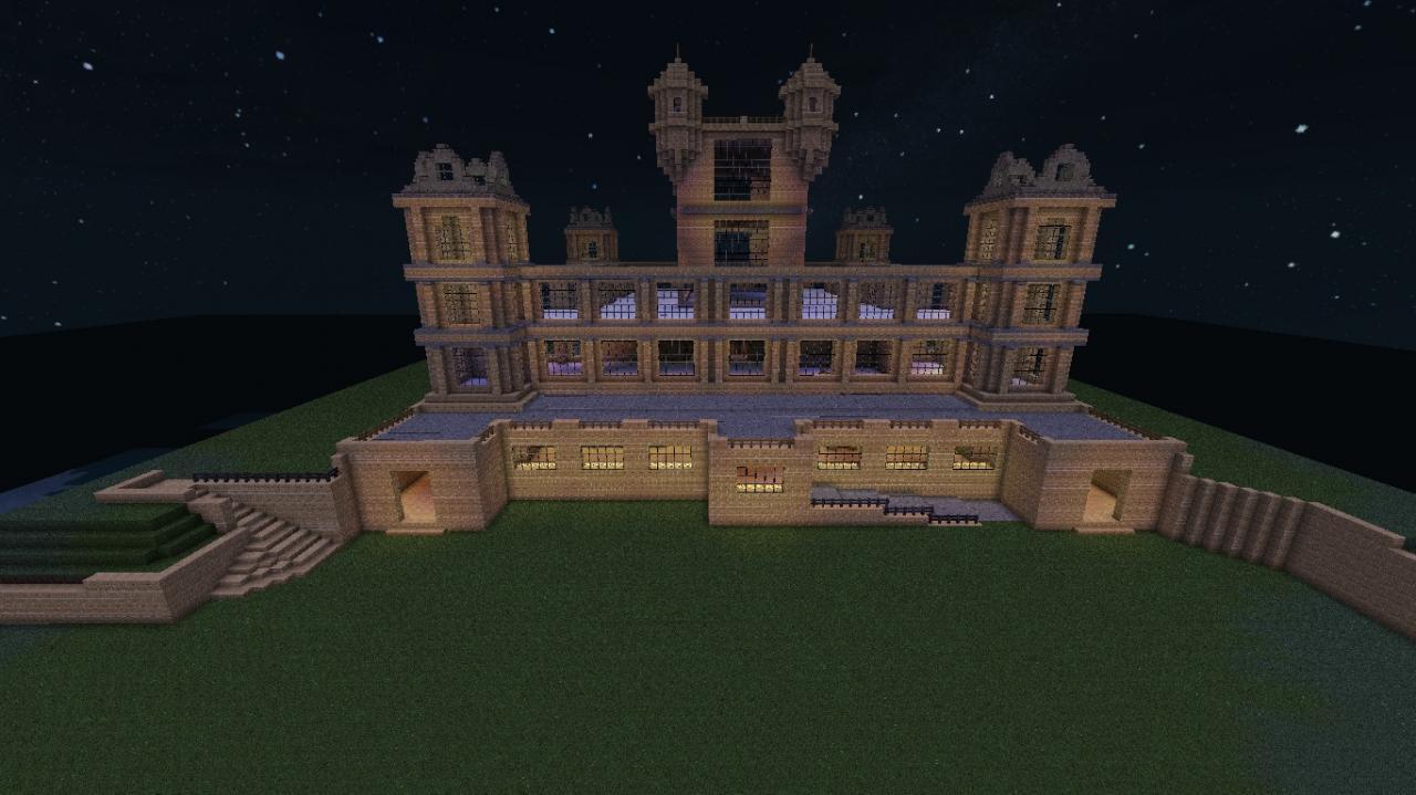Wollaton Hall Bruce Wayne Batman Manor Minecraft Project