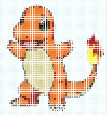 Charmander Pixel Art Template