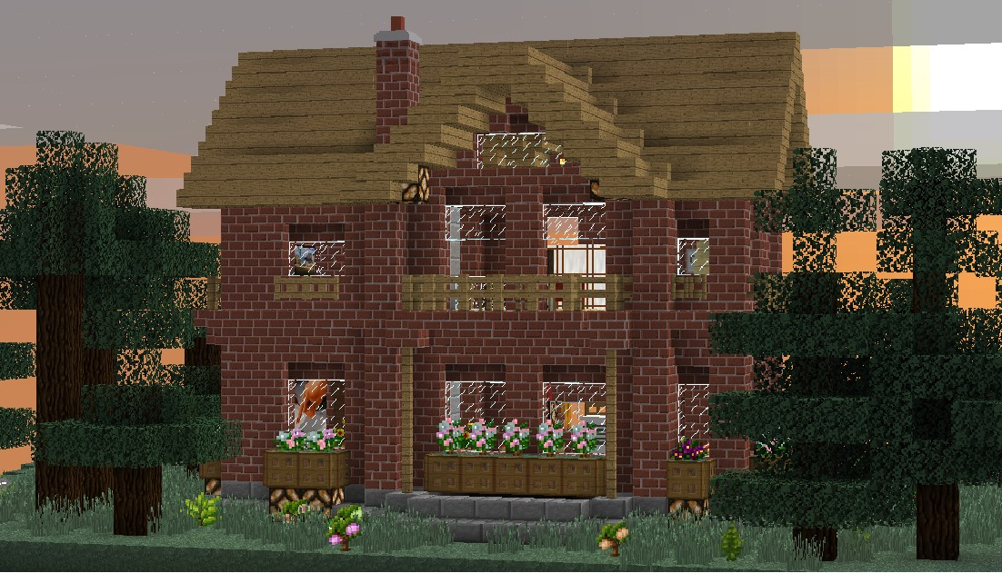 How To Build A Brick Wall >> Brick House 1.3.2 [world save download] Minecraft Project
