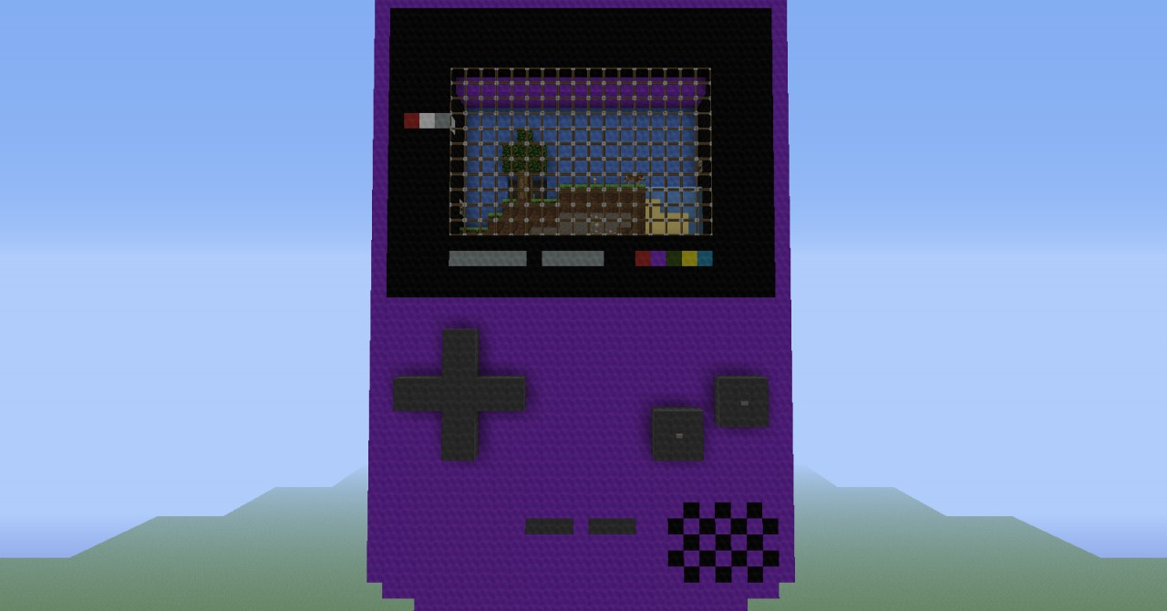 Interactive 3D Gameboy Color Minecraft Project