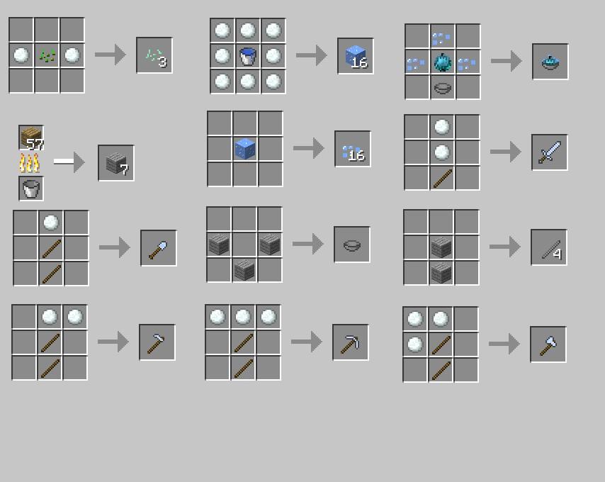 Как сделать вещи в minecraft