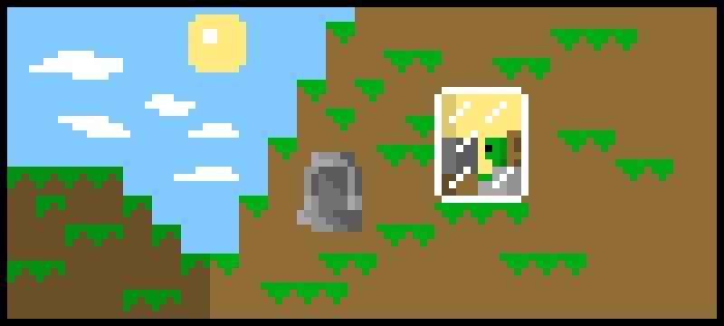 The Creeper Vacation. [first pixel art][Pixelart Contest ...
