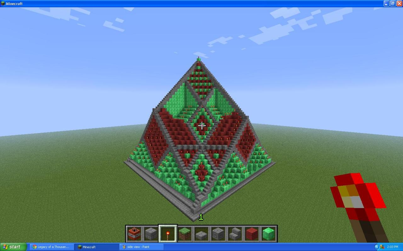 minecraft how to build a pyramid