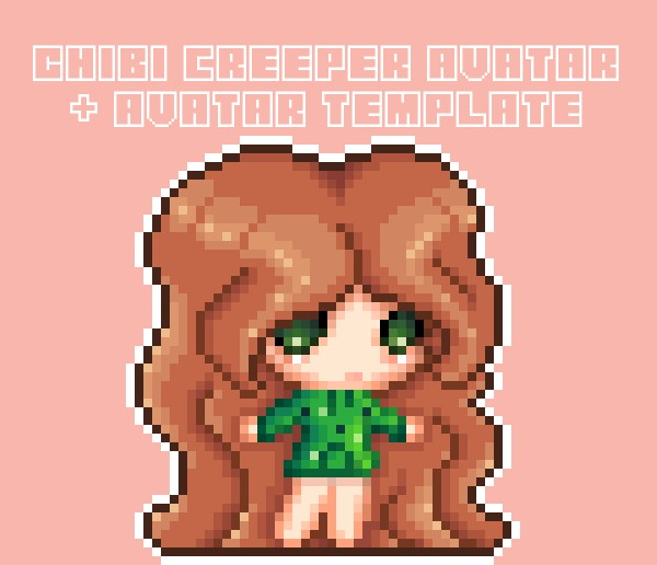 Pixel Art Creeper Lover Avatar Template Minecraft Blog