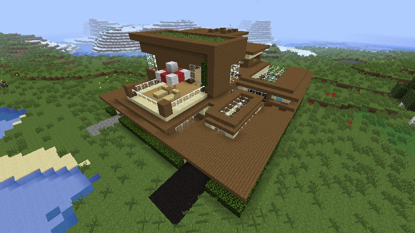 Pavrita House 25x25 Modern House Minecraft Project