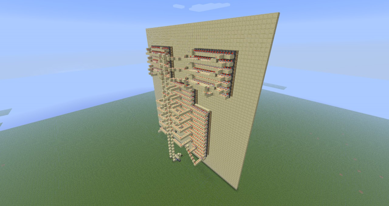 Minecraft Big Piston-Redstone Art ! Minecraft Project