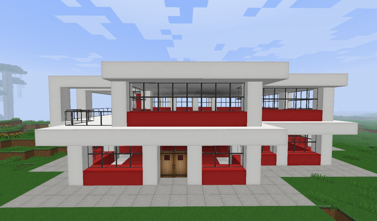 Small simple modern house minecraft project Simple modern house plans