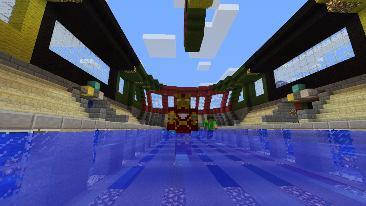 Piscine olympique minecraft project for Construction piscine olympique aubervilliers